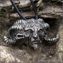 """Ювелирный кулон """"Лабиринт Фавна"""" в форме головы мистического доброго духа"""