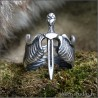 Популярное кольцо Меч с крыльями мужское украшение 600 руб.