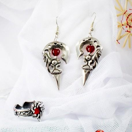 Красивый женский комплект украшений с сердечками к 14 февраля стильный подарок