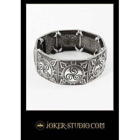 Оригинальный браслет с кельтским символом трискель - кельтская бижутерия