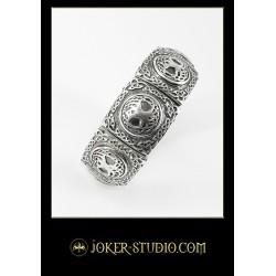 Ювелирный браслет с древом жизни красивая серебряная бижутерия