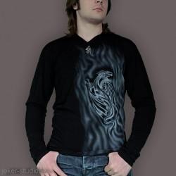 Мужской стильный джемпер с драконом модная комфортная одежда