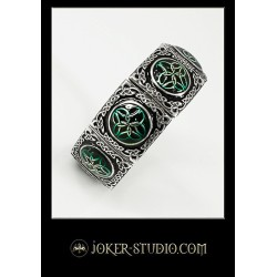 Женский ювелирный браслет с эмалью в кельтском стиле