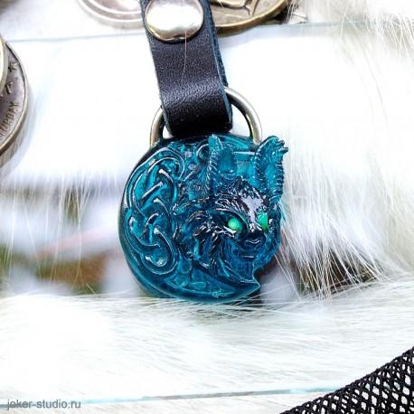 сувенир брелок Рысь из стекла производителя Joker-studio