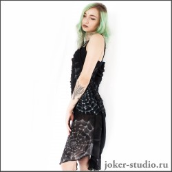 Женское вечернее платье с рисунком паутины купит в интернет-магазине Джокер