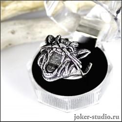 серебряное кольцо кот кугуар