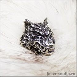 Лютоволк кулон с головой волка объемная мужская подвеска с символом свободы