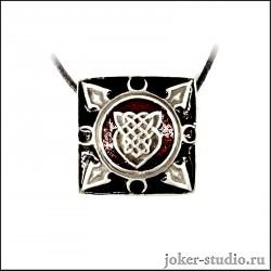 """Кулон с кельтским узором """"Щит"""" и ювелирной эмалью яркое украшение для девушки"""