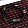 Браслет двойной шнур черного цвета с ювелирными шармами в кельтском стиле для мужчины и женщины