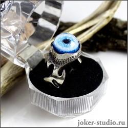 эксклюзивное кольцо глаз хаски сибирской собаки символ дружбы оригинальный подарок