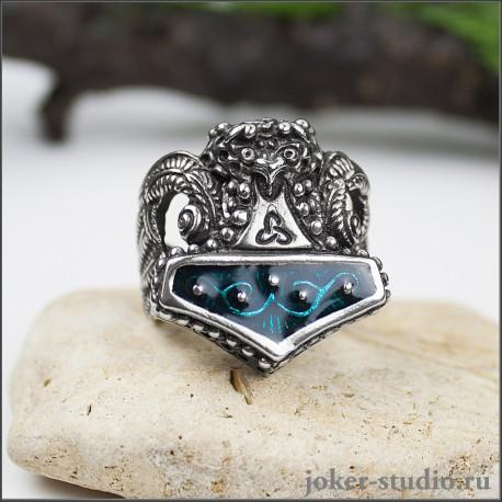 Кольцо Молот Тора ювелирное мужское украшение скандинавский амулет Мьёльнир