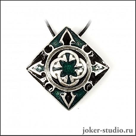 """Кельтский кулон """"Имболк"""" с ювелирной эмалью оригинальное украшение"""