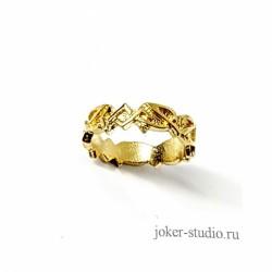золотое кольцо с кельтским узором НЕМЕТОН ~ распродажа