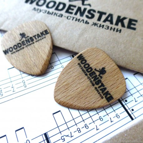 Деревянный медиатор для гитары