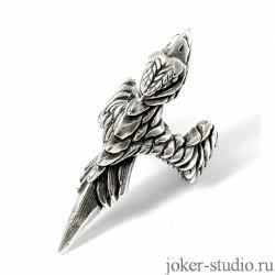 Купить Кольцо «Сокол» ювелирного серебряное кольцо