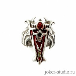 купить мужское серебряное кольцо с черепом