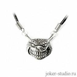 """Кулон """"Чеширский кот"""" серебряный купить в мастерской Джокер"""