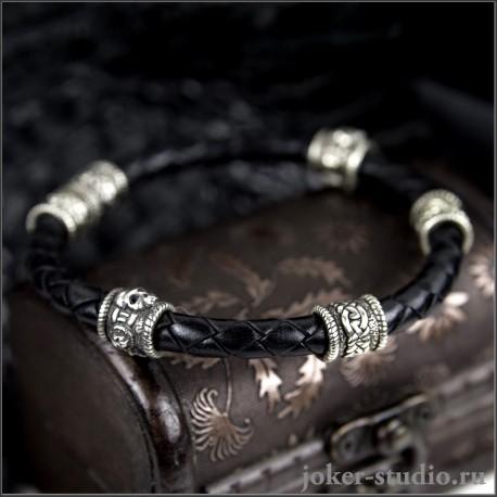 Мужской браслет с черепами – купить в мастерской Джокер