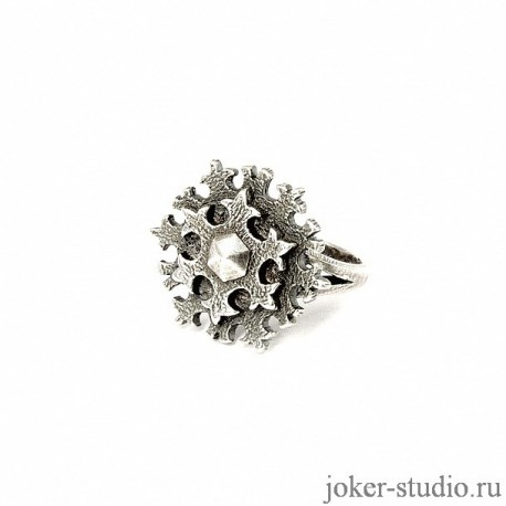 Кольцо Снежинка в славянском стиле купить в интернет-магазине Джокер