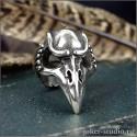 """Кольцо череп ворона """"Кутх"""" атрибут шамана символ мудрости и сотворения мира"""