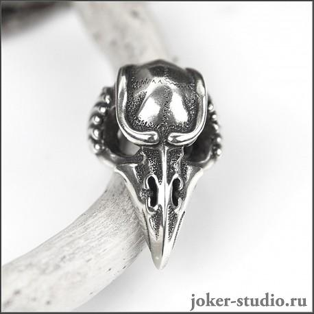 Купить Кольцо Вороний череп «Кутх» в мастерской Джокер