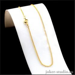 Тонкая панцирная цепочка золотая для бижутерии с микро-плетением