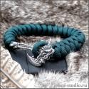 Браслет из паракорда змейка с застежкой топор Грифон оригинальный и полезный подарок