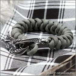Готовый браслет из серого паракорда с топором Грифон купить в магазине Джокер