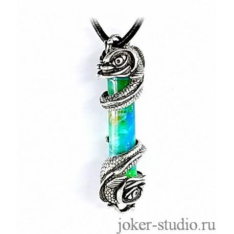 """Кулон """"Рыбки"""" с колбой океана в мастерской Джокер"""