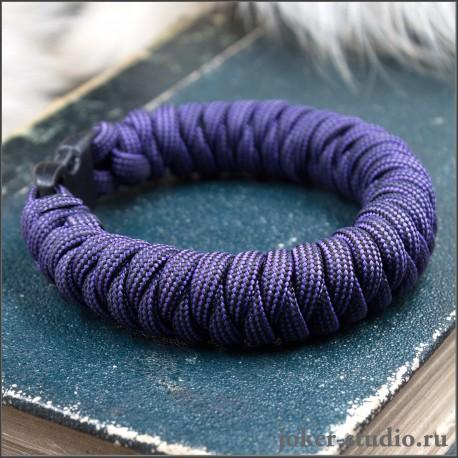 Браслет из паракорда фиолетовый плетение штопор – купить в мастерской Джокер