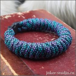 Молодежный браслет из паракорда с плетением «Штопор» стильный и полецный аксессуар