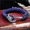 Грифон браслет из паракорда с плетением змейка украшение в стиле фэнтези