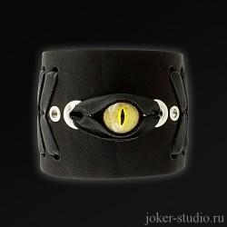 кожаный браслет купить глаз аллигатора дизайнерский браслет с доставкой