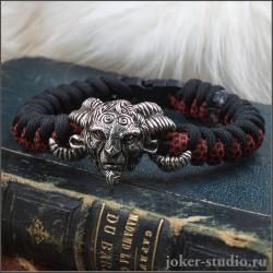 Паракордовый браслет с Фавном молодежное украшение ручной работы