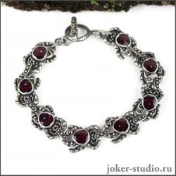 Женский браслет с пауками и ювелирной эмалью элитная бижутерия ручной работы
