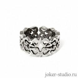 Мужское славянское кольцо серебряное купить в мастерской Джокер