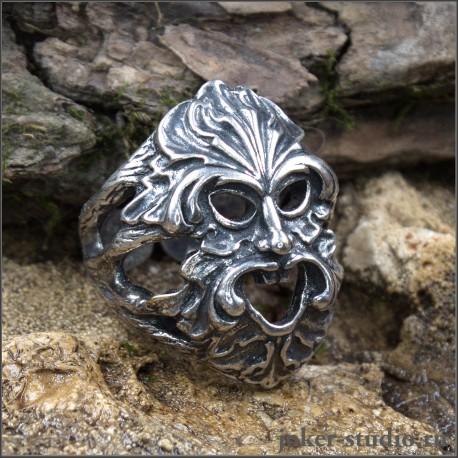 Перстень-оберег Велес славянский бог покровитель добра купить в мастерской Джокер