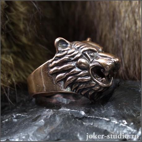 Кольцо Медведь мужское медное украшение купить в Мастерской Joker-studio
