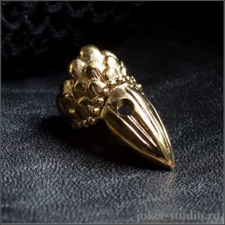 Кольцо коготь дракона золотое украшение купить с доставкой