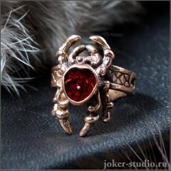 Паук кольцо медное - Купить недорого ювелирное изделие в России