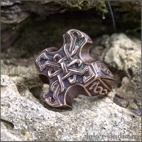 Купить кольцо кельтский крест мужское украшение из меди - распродажа