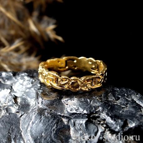 Купить кельтское кольцо - Золотая бижутерия в Мастерской Джокер