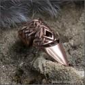 Медное кольцо-коготь на ноготь с кельтским узором ювелирная бижутерия ~ Бран