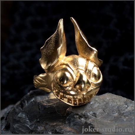 Золотое кольцо Стич молодежная ювелирная бижутерия|Купить в России