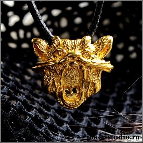 Золотой кулон кот - купить ювелирную бижутерию для девочки
