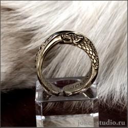 Мужское кольцо волки герб дома Старков купить в Россиии с доставкой