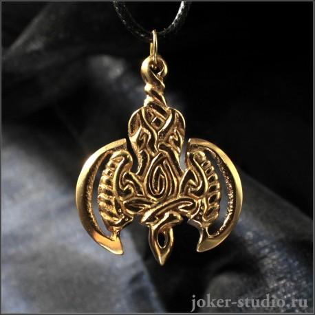 Кулон золотая Секира   купить мужскую подвеску в России 400 р.