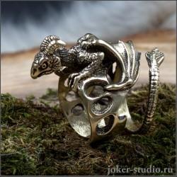 """Кольцо-скульптура """"Виверна"""" красивое авторское украшение Joker-studio"""
