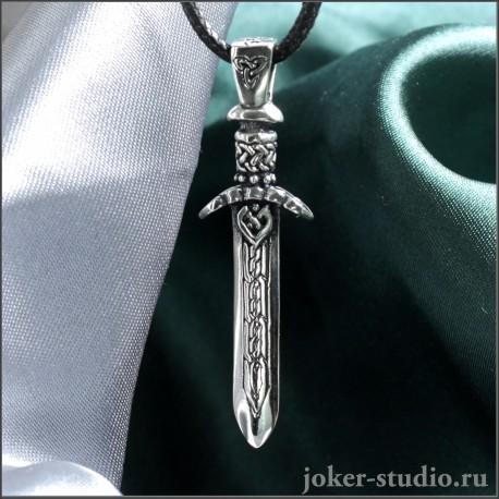 Кулон меч Бога Одина – купить мужскую подвеску меч Вотан