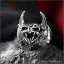 Вампир готическое кольцо в форме головы кровавого монстра с черепами - стильное рок-кольцо